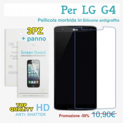 X3 PELLICOLA Morbida PROTEGGI SCHERMO screen protector antigraffio HD per LG G4