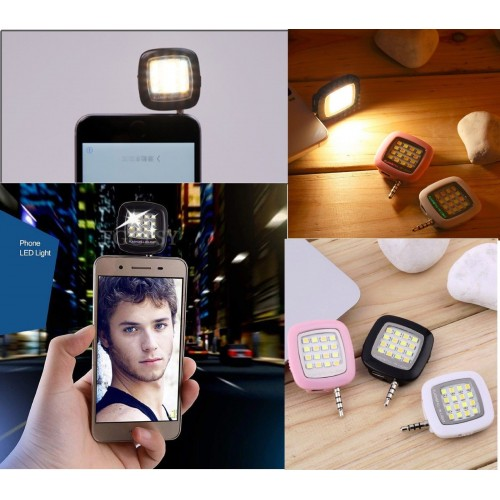 adattatore mini FLASH 16 LED luce per selfie universale foto camera frontale