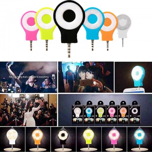 adattatore mini FLASH 8 LED luce per selfie universale foto camera frontale