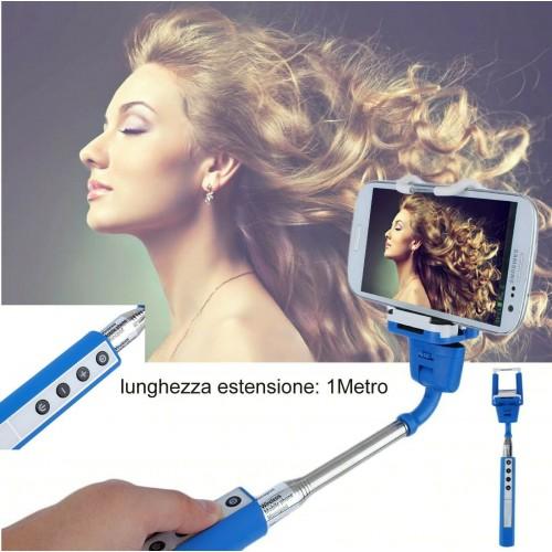 bastone estensibile 1M con telecomando incorporato selfie bluetooth smartphone