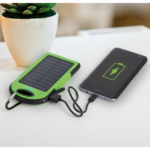 caricabatteria power bank 4000 mah ricarica a energia solare per Samsung iphone