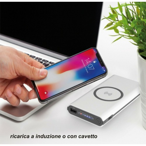 caricabatteria power bank 6000 mah senza fili wireless per Samsung iphone huawei