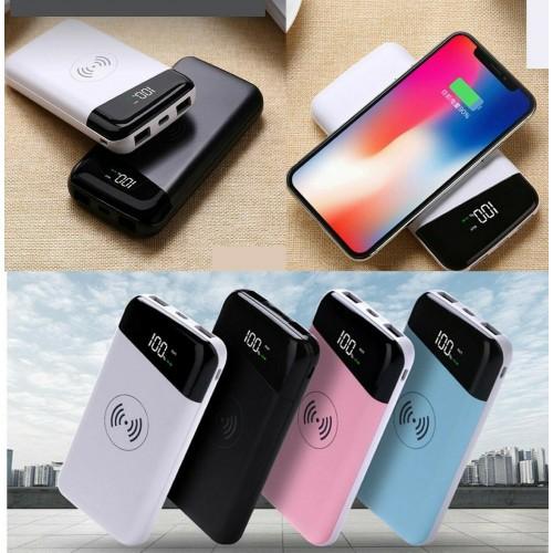 caricabatteria powerbank 20000mah senza fili wireless per Samsung iphone huawei