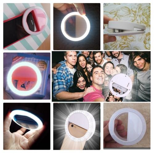 clip selfie mini flash anello di luce per FOTOCAMERA per IPHONE SAMSUNG asus