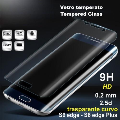 copertura in VETRO Trasparente tempered glass SAMSUNG GALAXY s6 s7 S8 edge plus