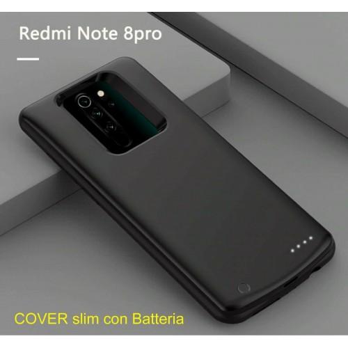 cover antiurto con batteria powerbank 6800mah per Xiaomi Redmi note 7 8 Pro