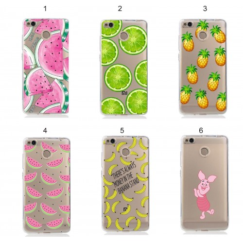 cover custodia case silicone frutta pig kitty per Xiaomi Redmi Note 4 X 3 Pro 5A