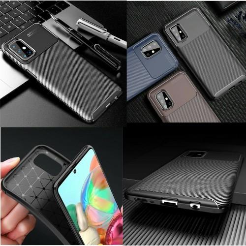 cover silicone antiurto fibra carbonio per Xiaomi redmi Note 7 8 8T 9s pro max