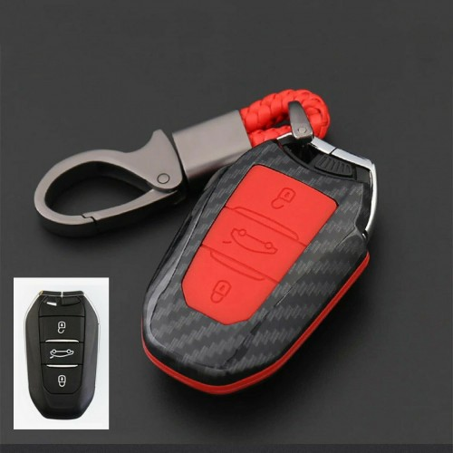 cover silicone fibra di carbonio per Peugeot 301 308 408 2008 3008 4008 5008
