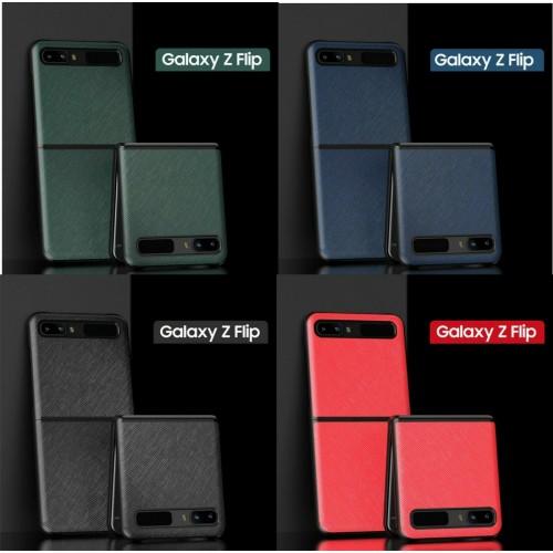 custodia cover PU antiurto & fibra di carbonio para webcam per Samsung Z Flip 5G
