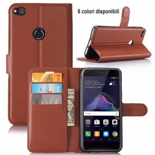 flip COVER CUSTODIA CASE MAGNETICA in pelle per HUAWEI P8 P9 HONOR 8 lite 2017