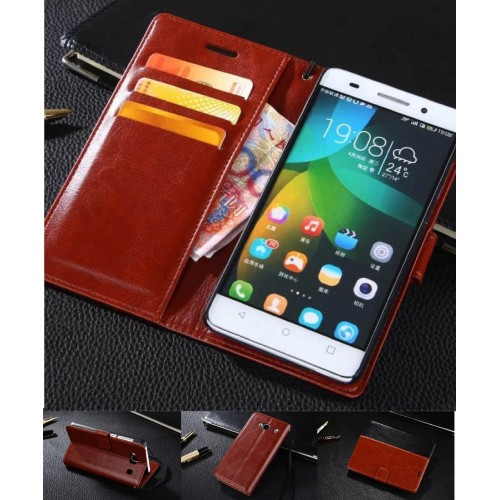 flip COVER CUSTODIA CASE in pelle per HUAWEI P8 lite 2017 nova Y3 Y5 Y6 honor 4C