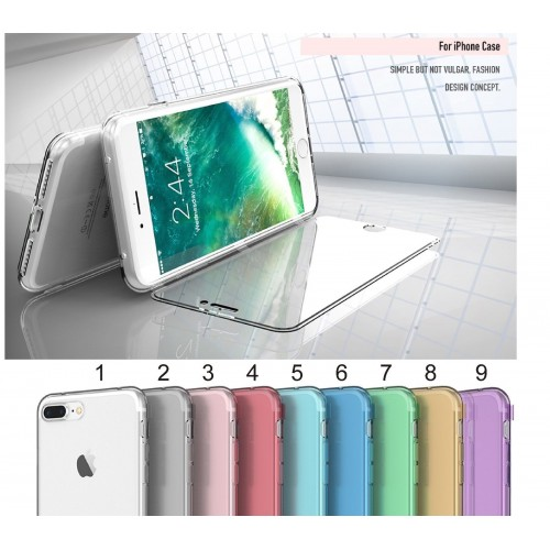 flip COVER Custodia CASE in silicone antiscivolo 360° per iphone  6 6S 7 8 plus