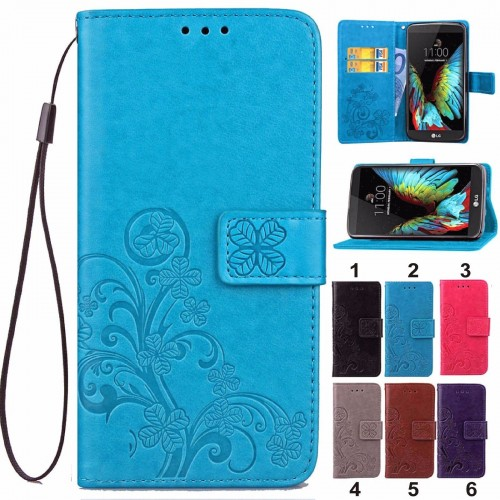 flip COVER Custodia Case cuoio slot card per LG G3 G4 G5 stylu Power spirit K10