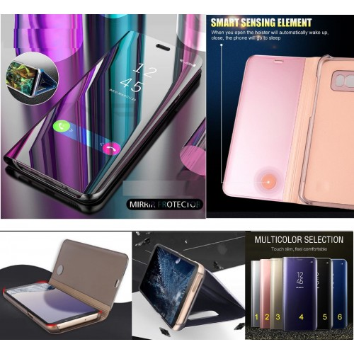 flip Cover Smart Wake Up intelligente per Samsung Galaxy S6 S7 edge S8 S9 Plus