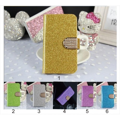 flip Cover custodia CASE IN PELLE diamond glitter per Asus Zenfone 3 ZE552KL