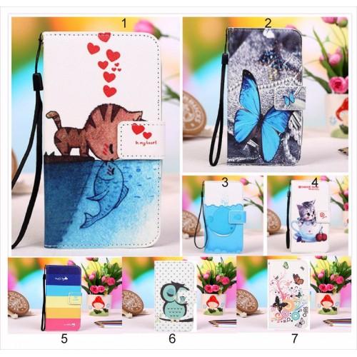flip Cover custodia Case cuoio gufo cat farfalla per Asus Zenfone 4 selfie & PRO