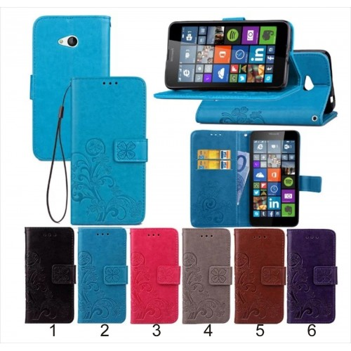 flip Cover custodia case cuoio con slot card per Nokia Lumia 530 532 535 640 930
