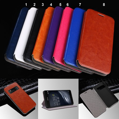 flip Cover custodia case in cuoio & silicone Fashion per Asus Zenfone AR ZS571KL