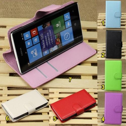 flip Cover custodia case magnetica pelle con slot card per Nokia Lumia 520 525