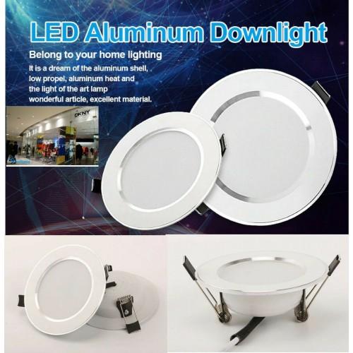 lampada da incasso rotonda LED APPLIQUE SOFFITTO PLAFONIERA  5W 7W 9W alluminio