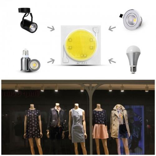 lampadine led 3W 5W 7W 9W lampada Chip integrato cob riflettore ceramic PCB RiY