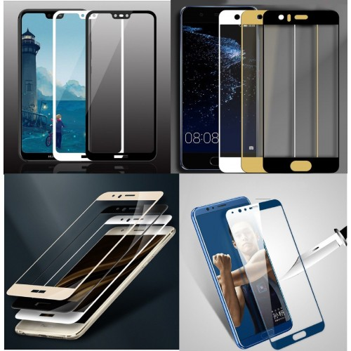 pellicola in VETRO tempered Glass colorful per huawei P8 P9 P10 P20 lite Plus