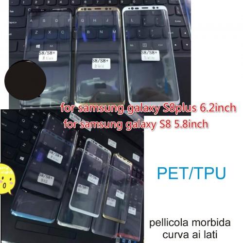 pellicola morbida in TPU Curved full Cover Screen per Samsung Galaxy S8 & Plus