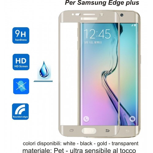 pellicola pet/tpu Curved Film Full Cover Screen For Samsung Galaxy S6 Edge Plus