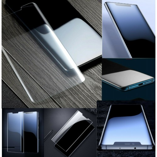 pellicola vetro temperato HD 9h lati curvi Huawei Mate 7 8 9 10 20 30 lite pro