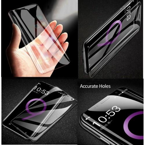 pellicola vetro temperato HD con lati curvi per Samsung note 6 7 8 9 10 20 Plus
