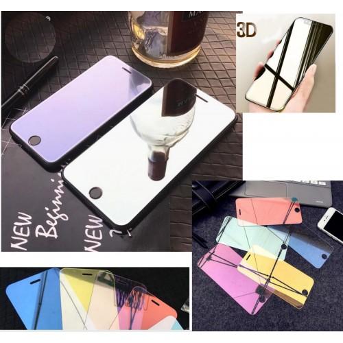 pellicola vetro temperato HD effetto specchio per IPHONE 5 5S 6 6 7 8 plus  X XS